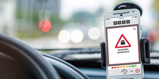 Spookrijderwaarschuwing in IMEX Driving Assistant voorkomt incidenten